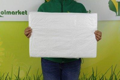 Plandeka okryciowa biała 4x8m