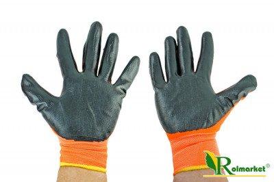Rękawice robocze nitrylowe Nitrox Orange Bradas rozmiar 10
