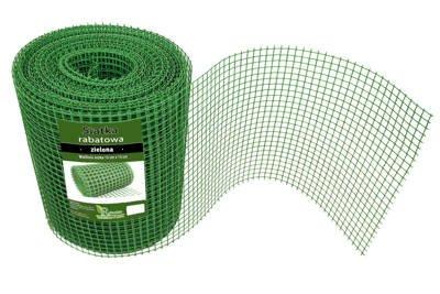 Siatka rabatowa 0,4x50m zielona