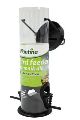 Transparentny karmnik dla ptaków 25x6,5cm