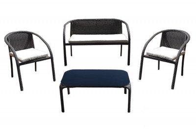 Zestaw mebli rattanowych Dominikana 1 sofa + 2 fotele + stolik JLZ784