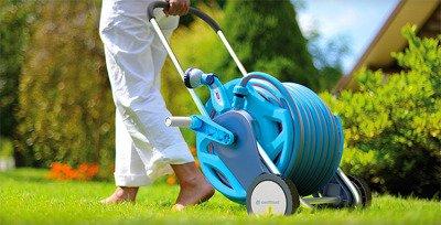 """Zestaw z wózkiem ogrodowym odpornym na korozję Discover Cellfast + wąż ORIGINALFLEX 25m 1/2"""""""