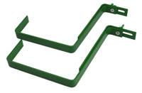 Metalowe uchwyty do skrzynki balkonowej – 2 sztuki, kolor zielony